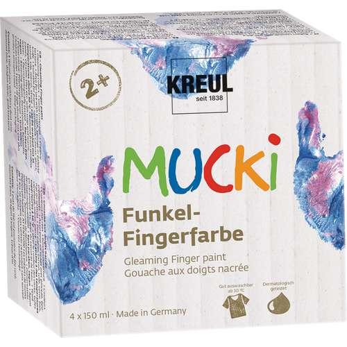 KREUL MUCKI Funkel-vingerverf, set
